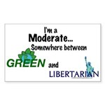 I'm A Moderate Sticker (Rectangle 10 pk)