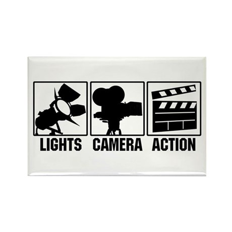 Lights, Camera, Action Rectangle Magnet
