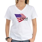 I Voted Why Didn't You Women's V-Neck T-Shirt