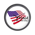 I Voted Why Didn't You Wall Clock