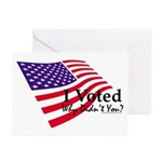 I Voted Why Didn't You Greeting Cards (Pk of 10)