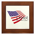 I Voted Why Didn't You Framed Tile