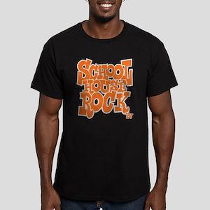 Schoolhouse Rock TV Men's Fitted T-Shirt (dark)