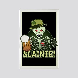 Skeleton Cheers Beer Rectangle Magnet