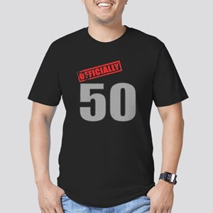 Officially 50 Men's Fitted T-Shirt (dark)