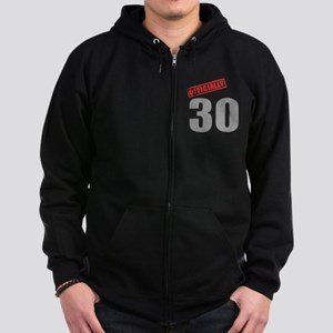 Officially 30 Zip Hoodie (dark)