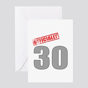 Officially 30 Greeting Card