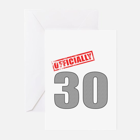 Officially 30 Greeting Cards (Pk of 10)