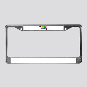 Beef Cuts License Plate Frame