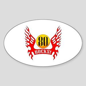 80 Rocks Sticker (Oval)
