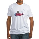 Valentine Airplane (BM Fawn) Fitted T-Shirt