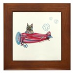 Valentine Airplane (BM Fawn) Framed Tile