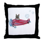 Valentine Airplane (BM Fawn) Throw Pillow