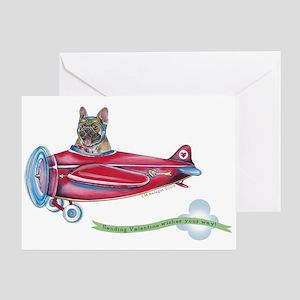 Valentine Airplane (BM Fawn) Greeting Card