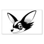 Chihuahua Sticker (Rectangle)