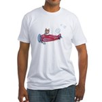 Valentine Airplane (Cream) Fitted T-Shirt