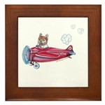 Valentine Airplane (Cream) Framed Tile