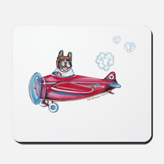 Valentine Airplane (Pied) Mousepad