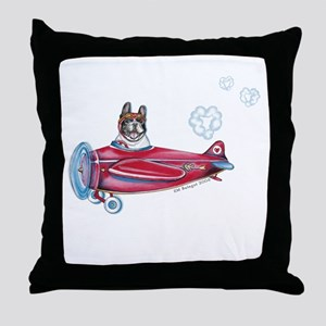 Valentine Airplane (Pied) Throw Pillow