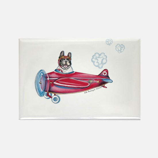 Valentine Airplane (Pied) Rectangle Magnet