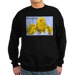 We're Not Food: Chickens Sweatshirt (dark)