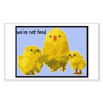 We're Not Food: Chickens Sticker (Rectangle 10 pk)