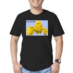 We're Not Food: Chickens Men's Fitted T-Shirt (dar