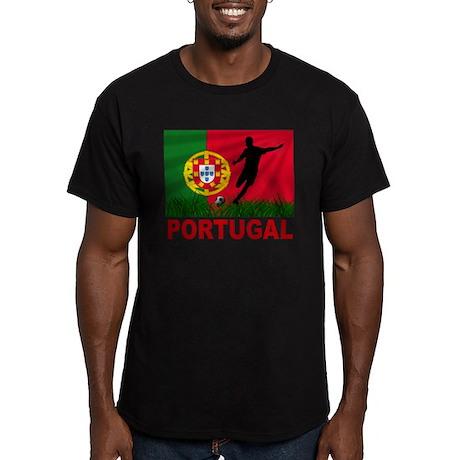 Portugal soccer Men's Fitted T-Shirt (dark)