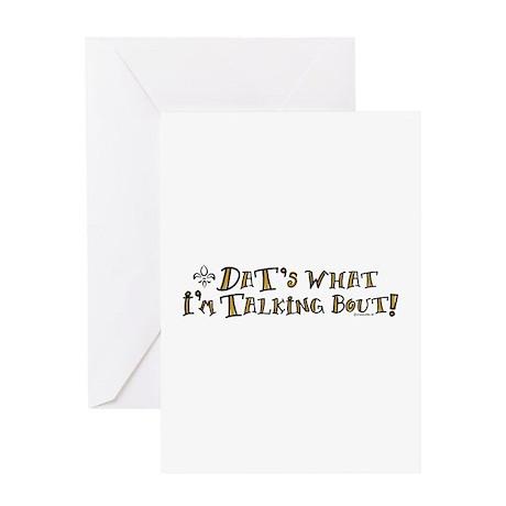 Dats What I'm Talking Saints Greeting Card