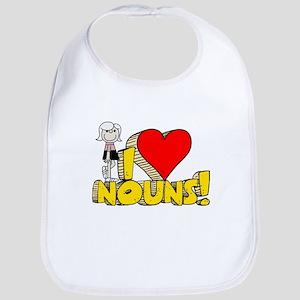 I Heart Nouns - Schoolhouse Rock! Bib