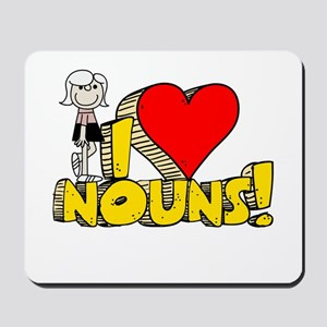I Heart Nouns Mousepad