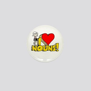 I Heart Nouns - Schoolhouse Rock! Mini Button