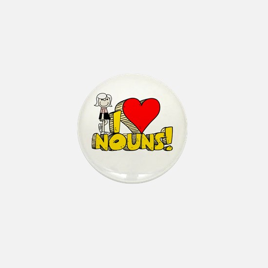 I Heart Nouns - Schoolhouse Rock! Mini Button