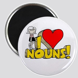 I Heart Nouns - Schoolhouse Rock! Magnet
