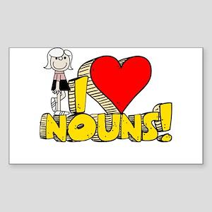 I Heart Nouns - Schoolhouse Rock! Sticker (Rectang