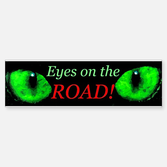 Eyes on the Road (No Phone Zone) Bumper Bumper Bumper Sticker