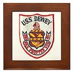 USS DEWEY Framed Tile