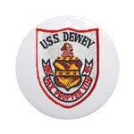 USS DEWEY Ornament (Round)