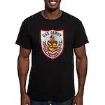 USS DEWEY Men's Fitted T-Shirt (dark)