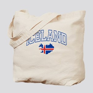 Iceland Map English Tote Bag