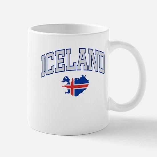 Iceland Map English Mug