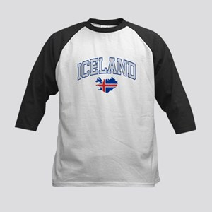 Iceland Map English Kids Baseball Jersey