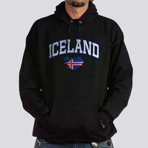 Iceland Map English Hoodie (dark)