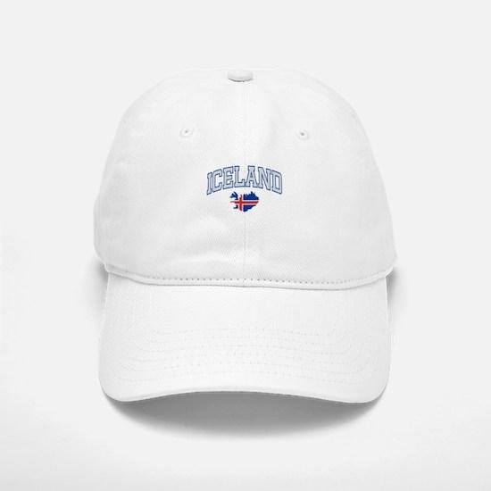 Iceland Map English Baseball Baseball Cap
