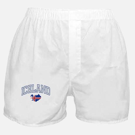 Iceland Map English Boxer Shorts