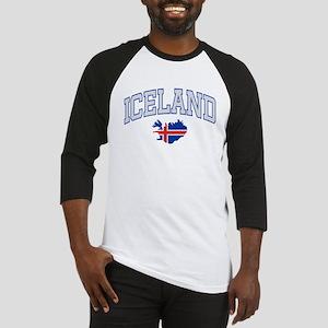 Iceland Map English Baseball Jersey
