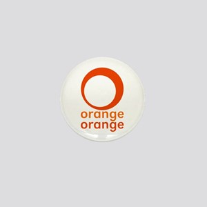 orange orange Mini Button