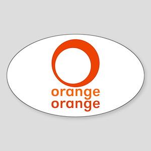 orange orange Sticker (Oval)
