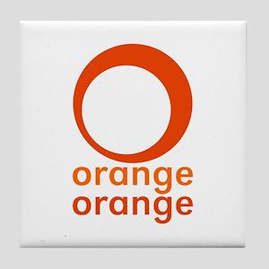 orange orange Tile Coaster