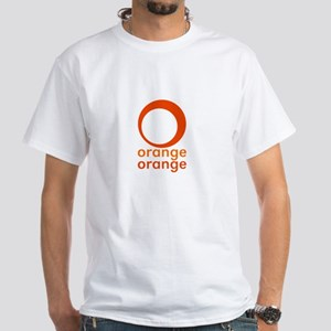 orange orange White T-Shirt